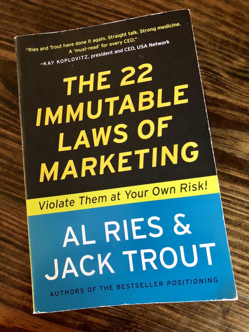 22 قانونا راسخا فى التسويق - للكاتبان آل رايس وجاك تراوت